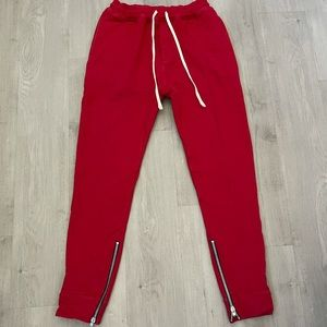 FEAR OF GOD Fifth Collection Red Sweatpants Jogger